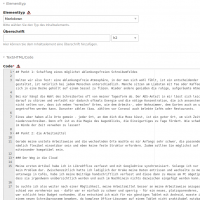 Screenshot Markdown-Integration in Contao